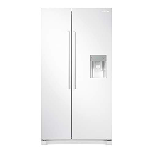 Samsung RS52N3313WW Freestanding American Fridge Freezer with Digital Inverter Technology, Water Dispenser, 520 Litre, 91 cm wide, White