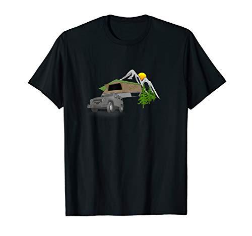 Dachzelt Outdoor-Übernachtung - Camping Natur Berge Camper T-Shirt