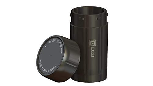 Canniloq-Smell Proof Stash Jar Airtight Child Safe Premium High Strength Polymer Black 120ml