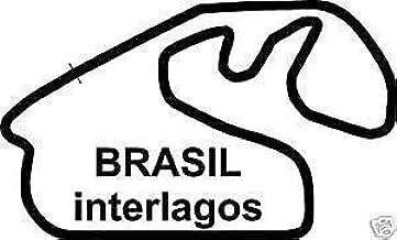 Online Design Brasil Interlagos Pegatina Pegatina Carreras Circuito Brasil - Dorado