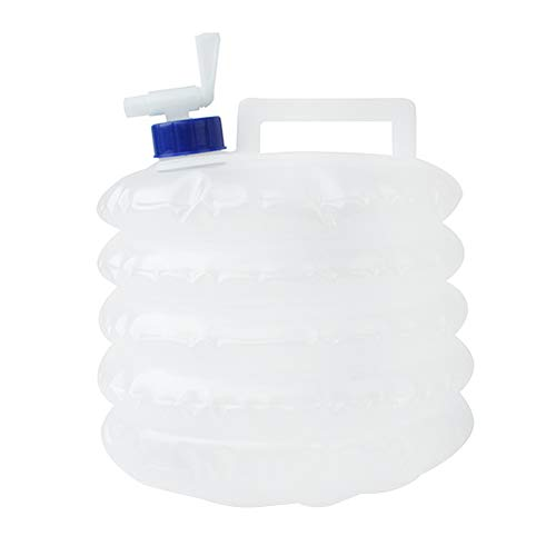 Opvouwbare wateremmer, 5L grote capaciteit Niet giftig water container wit inklapbaar opslag met tik, niet-giftige draagbare houder emmers voor Camping Koelkast Wandelen Jagen Vissen Klimmen BBQ
