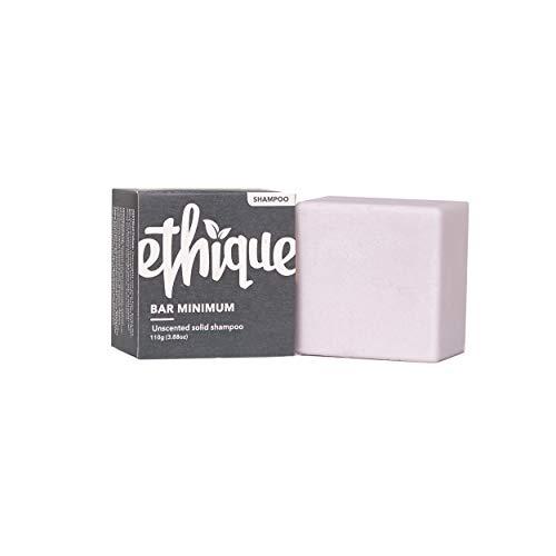 Ethique Eco-Friendly Unscented Solid Shampoo, Bar Minimum - Sustainable Natural Shampoo, Palm Oil Free, Sulfate Free, Plastic Free, pH Balanced, Vegan, Plant Based, Compostable & Zero Waste, 3.88oz