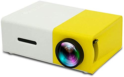 Neat Projector, Beamer Home Mini Pico Projector HD LED-projector, Ondersteuning Connection Tablet, mobiele telefoon, laptop, DVD, Game Console, Stereo, USB Memory Stick, Geel dljyy (Color : Yellow)