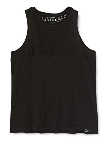Superdry Damen Lily Crochet Insert Vest Pullunder, Schwarz (Black 02A), L (Herstellergröße:14)
