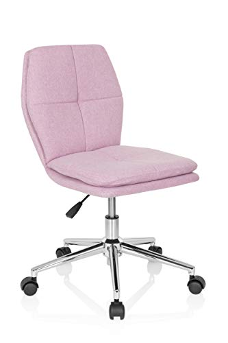 hjh OFFICE 670944 Kinder-Schreibtischstuhl Joy I Stoff Rosa moderner Drehstuhl, bequem gepolstert, höhenverstellbar