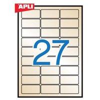 【APLI】 インクジェットA4メタルラベル10枚27面go (AP-11275) [オフィス用品]