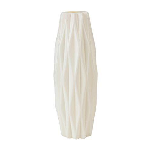 Vase Minimalismus Blumentopf Geometrische Origami-Vasen Blumenvasen Für Häuser Pflanzen Anordnung Topf Vase Dekoration Häuser-3219-Weiß