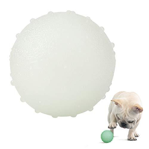 AnCoSoo Hundeball, leuchtender Hundeball im Dunkeln leuchten, Pet Chew Toys Balls für große und kleine Hunde, interaktives Spielzeugspielzeug für Haustiere, Laufen Spielen