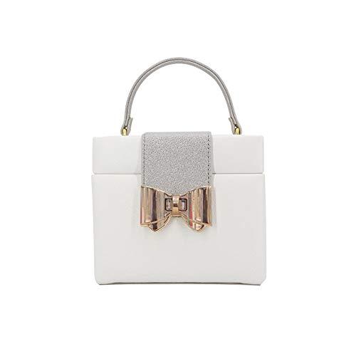 POMNEFE Joyero para mujer, caja de joyería de tres niveles, caja de joyería de diseño de malla, caja de joyería de cuero blanco, caja de almacenamiento para collar y pendientes