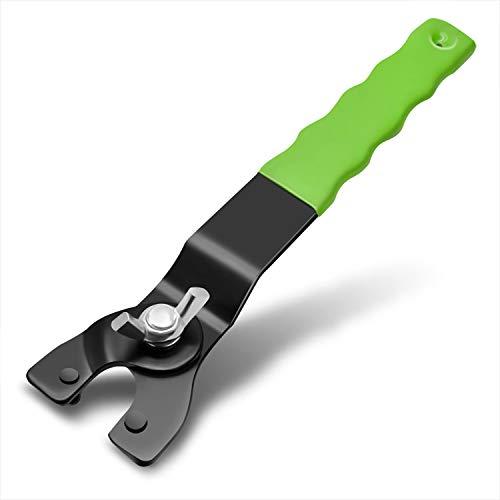 AOSNTEK Llave de amoladora de ángulo universal, 8-48 mm, llave ajustable de 140 g, ajuste exacto para todas las amoladoras angulares de la marca superior, color verde