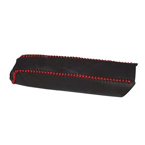 beler Schwarz Leder Rot Nähen Handbremse Dekorative Abdeckung Hülle Schutzhülle
