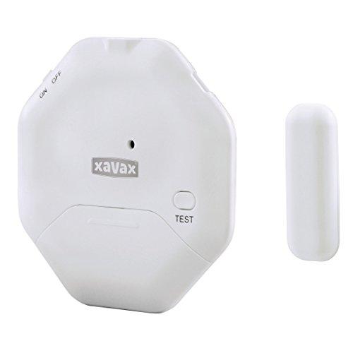 Xavax Alarmanlage für Fenster oder Tür, extra flacher Einbruchschutz, ideal für Balkontüren oder Schiebetüren