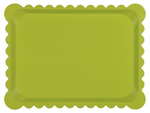 PLATEX 104030027D - Bandeja, diseño dentado, Color Verde