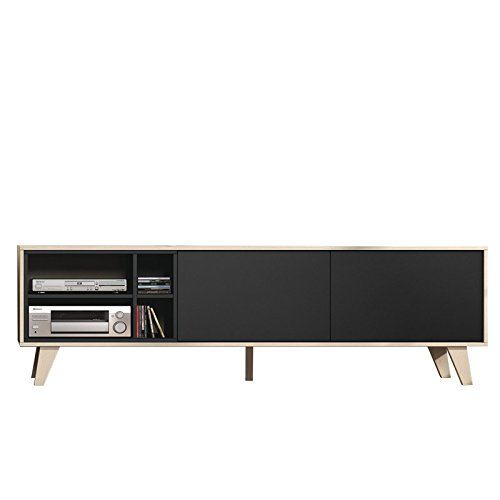 Direct Furniture Agna–zaiken TV Unidad–0Z6635R–Roble/Gris