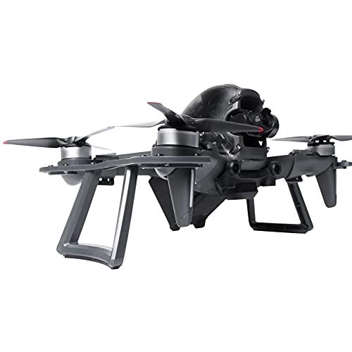 Hensych 2 in 1 - Supporto protettivo multifunzionale per drone D-J-I FPV, braccio anti-collisione per motore a prova di urto e protezione da atterraggio sicuro