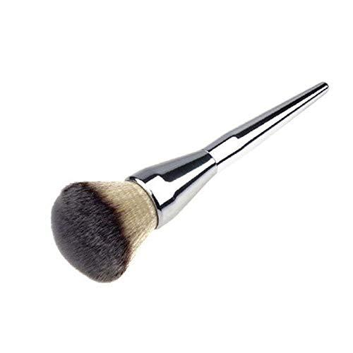 Aofocy Brosse de maquillage en poudre de qualité supérieure pour maquillage, fond de teint poudre, fond plat, argenté