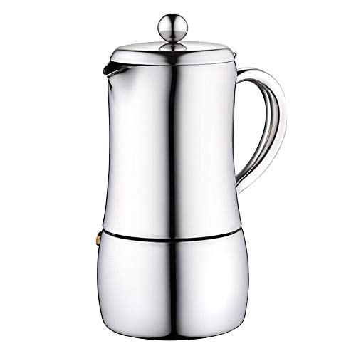 Sale!! Mocha Pot Stainless Steel Mocha Pot Coffee Maker Household Coffee Maker Coffee Utensils Stove...