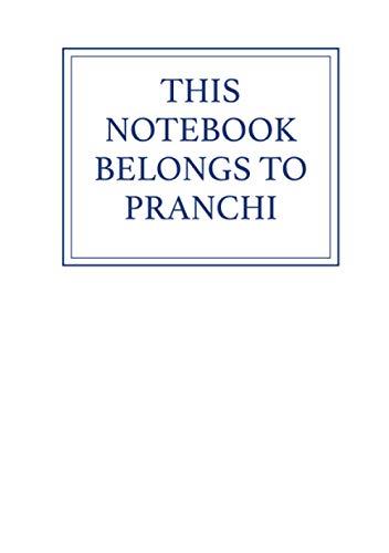 This Notebook Belongs to Pranchi