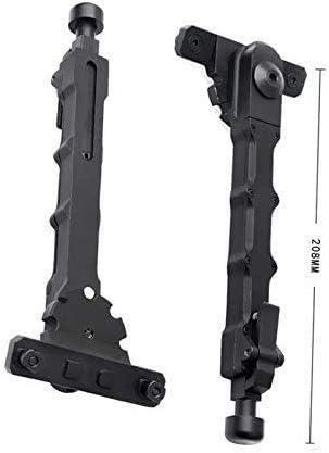 Lejie T/áctica Aluminio M-LOK B/ípode Montaje Lateral Bipod para Camara Airsoft Alcance Caza