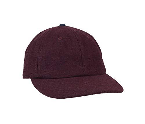 Damen + Hastings Men's Dad Cap Baseball Hat, Wine Wool, One Size