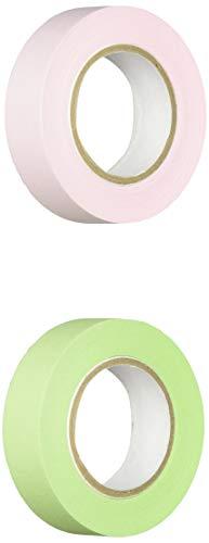 ポストイット 付箋 全面粘着ロール 12mm×10m 2巻セット(ピンク&グリーン) 詰め替え用