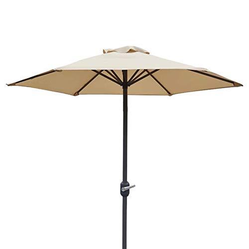 JLXJ Garden Parasols Outdoor Patio Umbrella, 2m /6.5feet Table Sunbrella Umbrella With Ventilation and Crank, For Market/swimming Pool/beach/garden (Color : Beige)