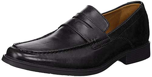 Clarks Men's Tilden Way Penny Loafer, Black Leather, 10.5 Medium US