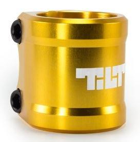 Tilt Arc Oro Double Patinete de bar Clamp brazo abrazadera 34,9
