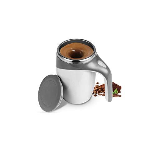 Taza De Mezcla Automática De Acero Inoxidable - 380Ml / 13Oz, Taza De Agitación Portátil, para Café/Té/Chocolate Caliente/Taza De Leche, Etc,Blanco