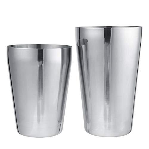 Herramientas de Barra de Acero Resistentes Coctelera, Botella mezcladora, restaurantes Profesionales de Acero Inoxidable para Barras de Cocina en casa(600/450ml)