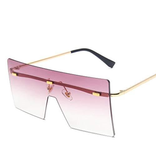 Gafas De Sol Gafas De Sol De Gran Tamaño para Mujer Retro Vintage Sun Glasse Hombres Mujer Gafas Sin Montura De Lujo Grandes Sombras Uv400 Goldgradientpurple