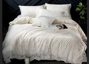 RONGXIE Prinses windkant katoen kant 4 stks beddengoed set kussensloop dekbed dekbed bed bed laken de koningin full king size beddengoed set