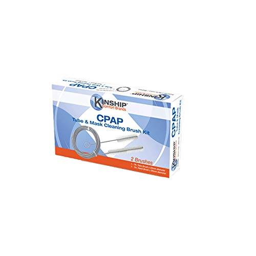 CPAP Tube & Mask Cleaning Brush Cleaner 1 Box | Extends to 6' and coils for Easy Storage. Soft bristles are stiff Enough to Clean the Inside of CPAP Machine Tubes but Soft Enough to not harm The Tube.