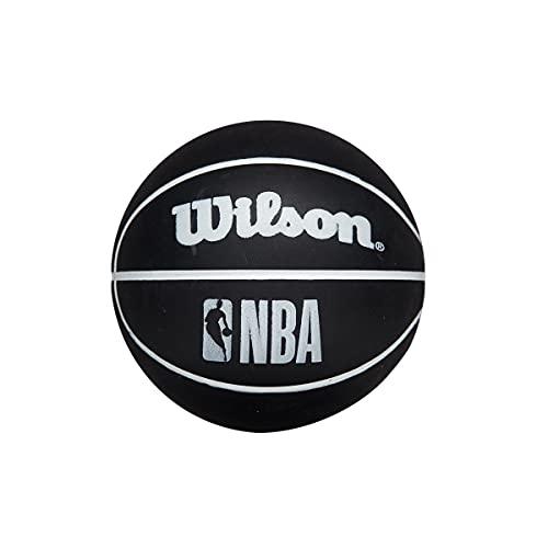 Wilson NBA Dribbler Super Mini Reaction - Balón de baloncesto, color negro