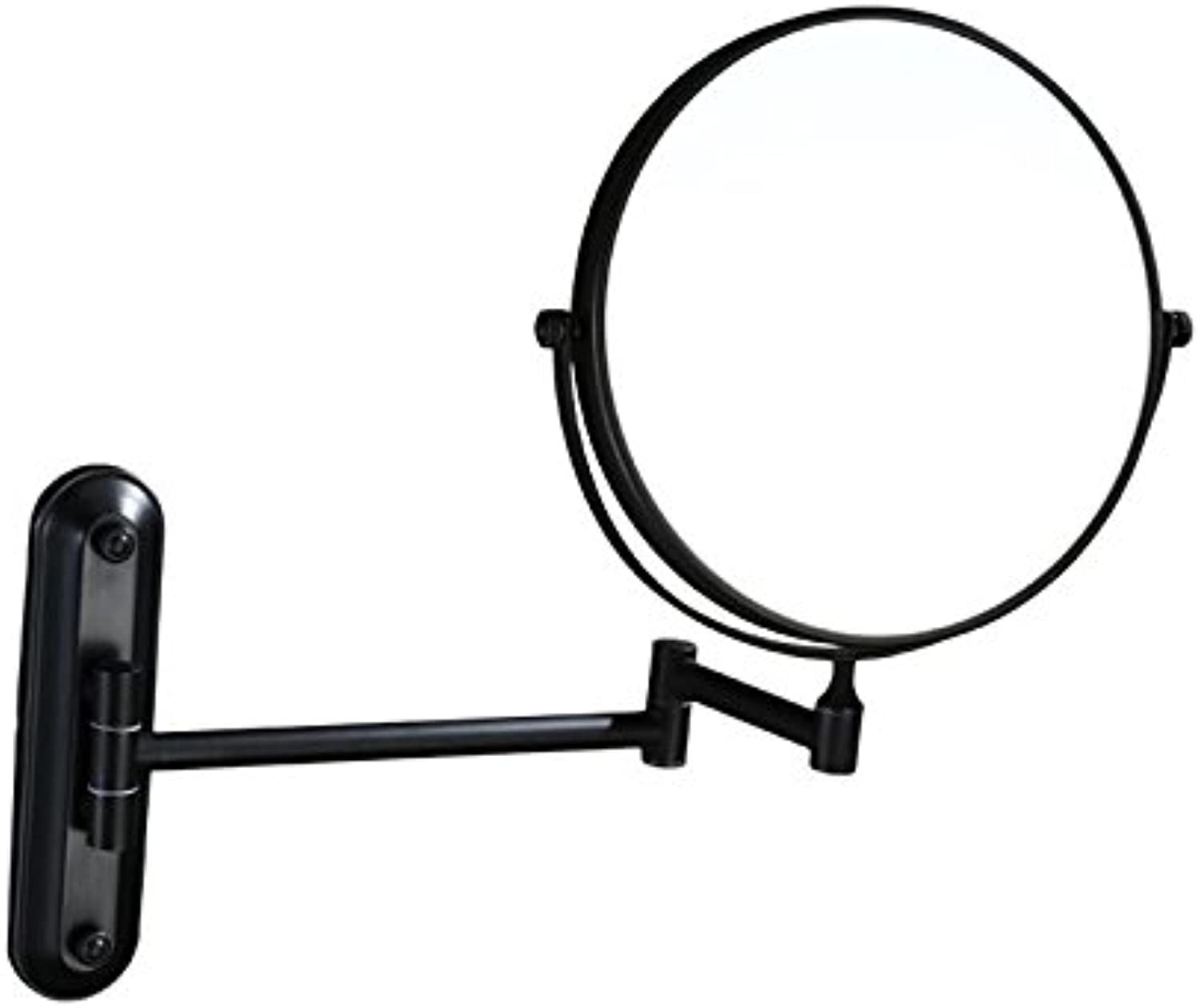 8  Wall Mounted Makeup Mirror Double Sided with 3X Magnification,Black Oil Brushed,Black Oil Brushed