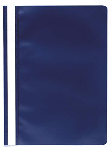 Exacompta 449207B Sichthefter aus PP, mit Beschriftungsstreifen, für DIN A4, bis zu 100 Blatt, 1 Stück, dunkelblau