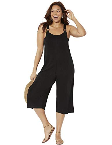 Swimsuits For All Women's Plus Size Eloise Overall Jumpsuit 18/20 Black
