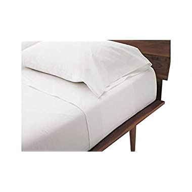 Queen Sleeper Sofa Bed Sheet Set - White Solid 100% Cotton 800 Thread Count Fit Up To 8  inches Deep Mattress.