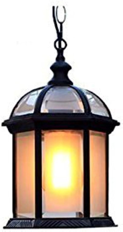 WENYAO Im Freien Wasserdichter Kronleuchter, Im Freien Hof Garten Trauben Spalier Korridor Kronleuchter Pavillon Gang Balkon Lampe Einzelkopf E27 Metall Diverse (Farbe    2)