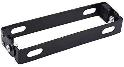 Titular de la placa de matrícula, Scooter de motocicleta de metal negro Soporte de placa de matrícula ajustable Soporte de marco Accesorios y piezas de motocicleta ( Color : Orange , Size : Free )