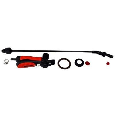 """ECHO 28"""" Universal Replacement Wand & Flow Control Assembly, Gear Clamp Pump Gasket, Check Valve, Pump Plunger Cup & O-Ring and 2 nozzles"""