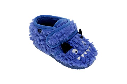 victoria Bota Velcro Animales, Botas Slouch Unisex Niños (25 EU, Azul)