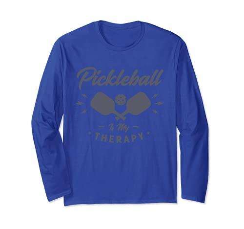 ピクルスボールは私のセラピー アイアンボールスポーツ 長袖Tシャツ