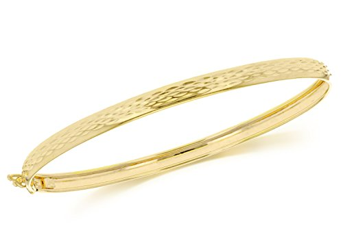 Carissima Gold 9ct Yellow Gold Diamond Cut Bangle
