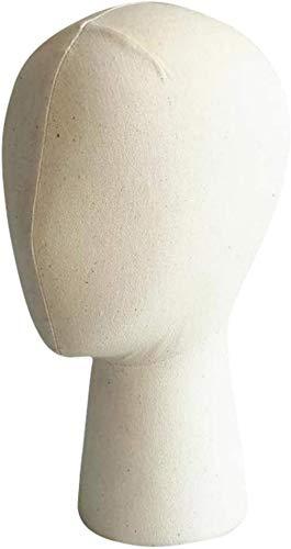 Mannequins de couture reglable 22 « » Perruques de Cheveux Extension chapellerie Display Caps en Fibre de Verre Cork Bloc Modèle tête malléable Porte vêtement Mannequin (Size : Low)