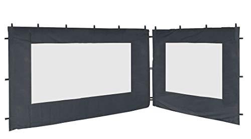 QUICK STAR 2 Seitenteile 250x190cm 350x190cm für Pavillon Nizza 3x4m Seitenwand Grau