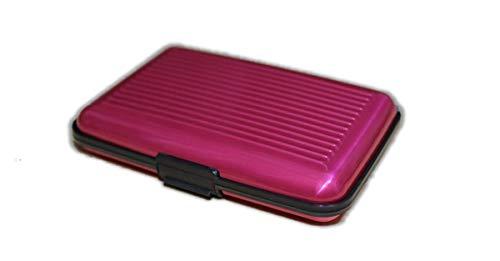 [クープ・ド・クール] カードケース クレジットカードケース 磁気防止 スキミング防止 アタッシュケース スタイリッシュ カードホルダー マネークリップ 個性的 プレゼント 彼氏 アルミケース (ピンク)