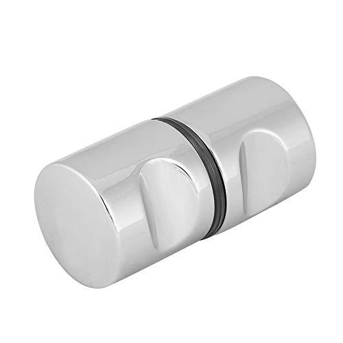 Smandy Duschtürgriff Duschtürknopf Türgriff Aluminiumlegierung verchromter Zuggriffknopf für Badezimmer Duschglastür(#3)