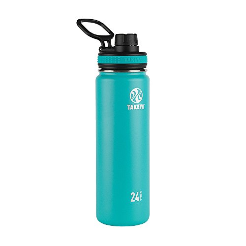 Takeya Ocean Originals Vacuum-Insulated Stainless-Steel Water Bottle, 24oz