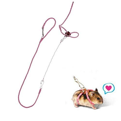 Haustier-Ratte-Maus Harness Einstellbare Seil Frettchen Hamster Finder Bell-Leine-Blei-S (zufällige Farbe)